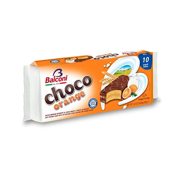 Alimentari Buonconsiglio BALCONI CHOCO ORANGE 10 PEZZI