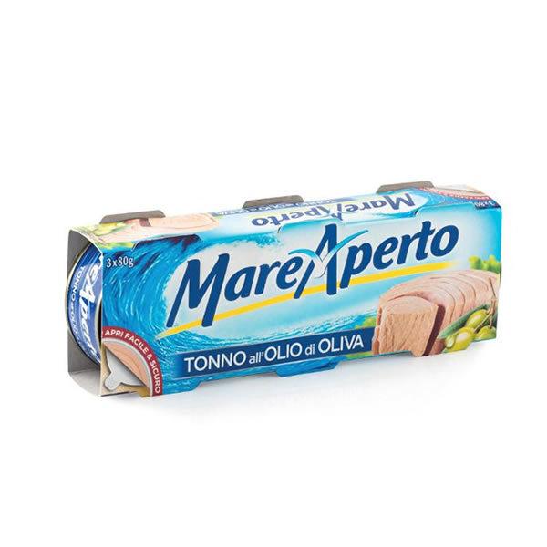 Alimentari Buonconsiglio MARE APERTO TONNO ALL' OLIO D' OLIVA 3 X 80 GR