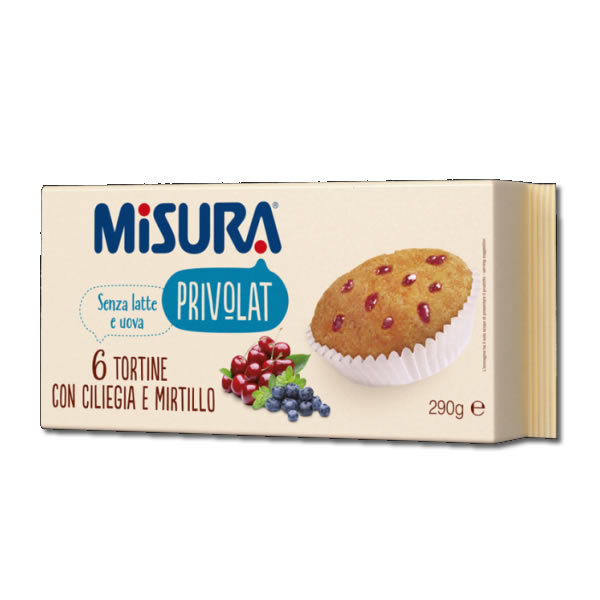 Alimentari Buonconsiglio MISURA PRIVOLAT 6 TORTINA CON CILIEGIA E MIRTILLO