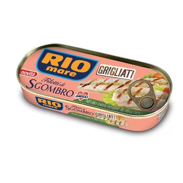 Alimentari Buonconsiglio RIO MARE FILETTO DI SGOMBRO GRIGLIATO ALL' OLIO D' OLIVA 120 GR