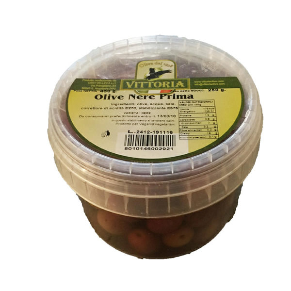 Alimentari Buonconsiglio - VITTORIA OLIVE NERE GR. 250