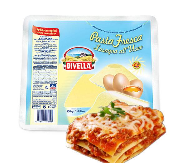 Alimentari Buonconsiglio - DIVELLA LASAGNA FRESCA ALL'UOVO GR. 250