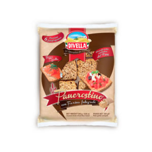 Alimentari Buonconsiglio DIVELLA PAN CROSTINI CON FARINA INTEGRALE 250 GR
