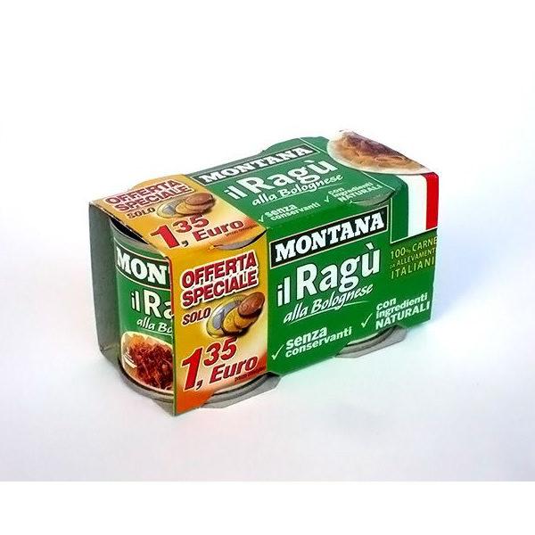 Alimentari Buonconsiglio MONTANA RAGU' 2 X 100 GR