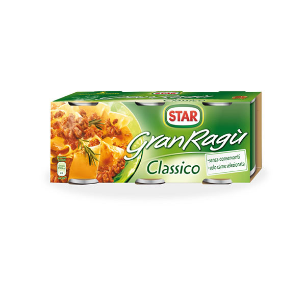 Alimentari Buonconsiglio STAR GRAN RAGU' 3 X 100 GR