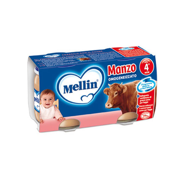 Alimentari Buonconsiglio MELLIN OMOGENEIZZATO MANZO 2 X 80 GR