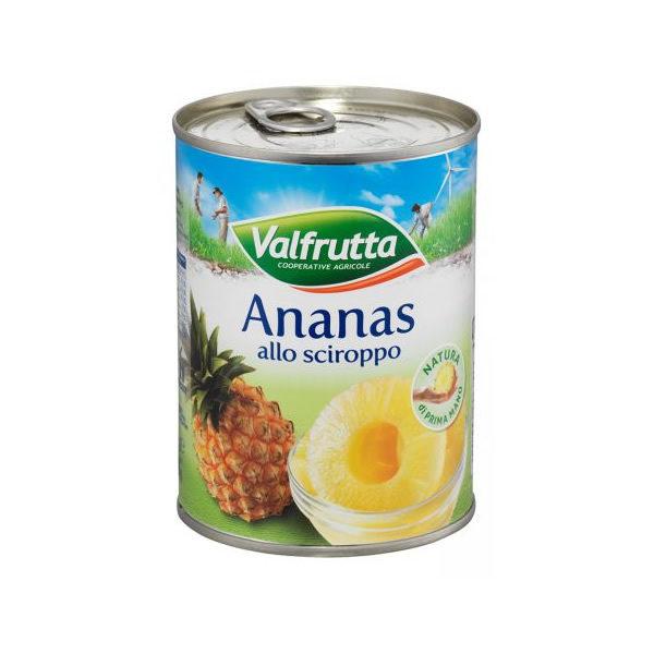 Alimentari Buonconsiglio VALFRUTTA ANANAS ALLO SCIROPPO 565 GR