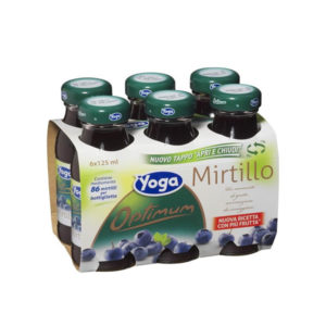 Alimentari Buonconsiglio YOGA BOTTIGLINE MIRTILLO 6 X 125 ML