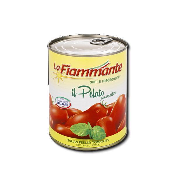 Alimentari Buonconsiglio LA FIAMMANTE PELATI CON BASILICO 400 GR
