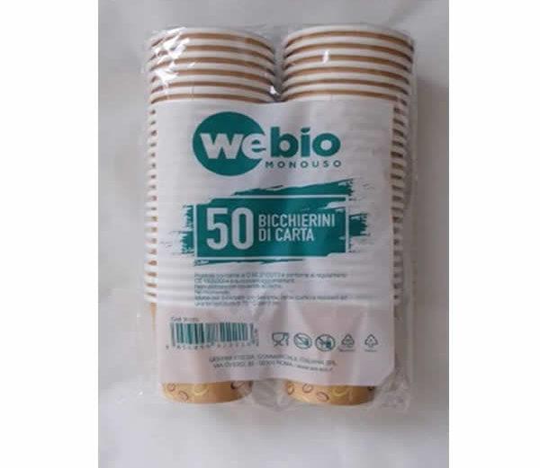 WEBIO BICCHIERI CAFFE' ECOSOSTENIBILE X 50