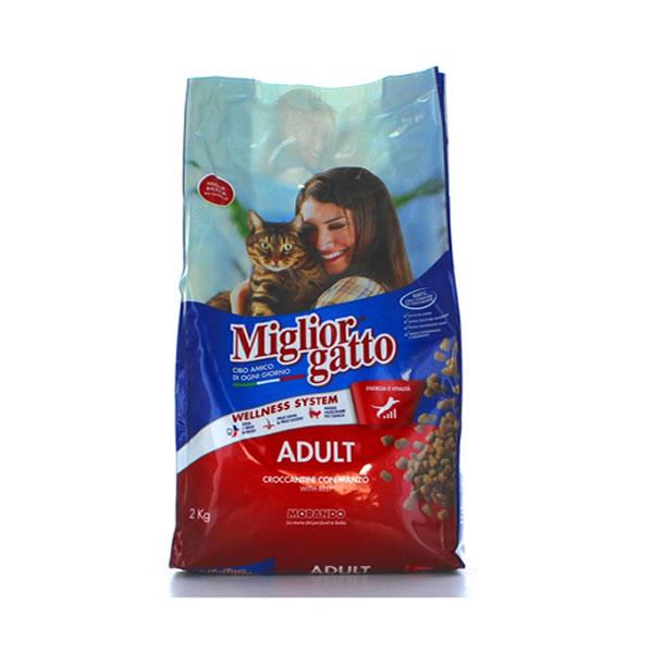Alimentari Buonconsiglio MIGLIOR GATTO CROCCANTINI MANZO 2 KG